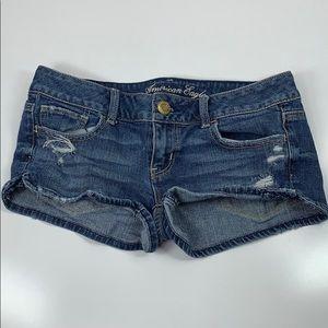 American Eagle Stretch Denim Distressed Shorts 2